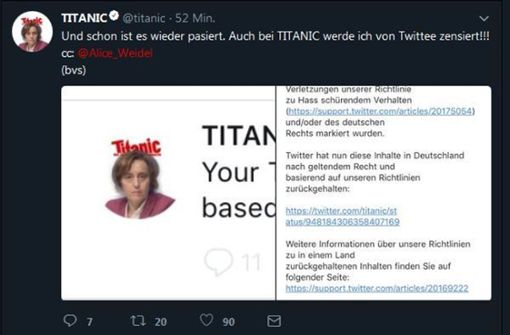 Satire-Magazin parodiert Tweets von Beatrix von Storch