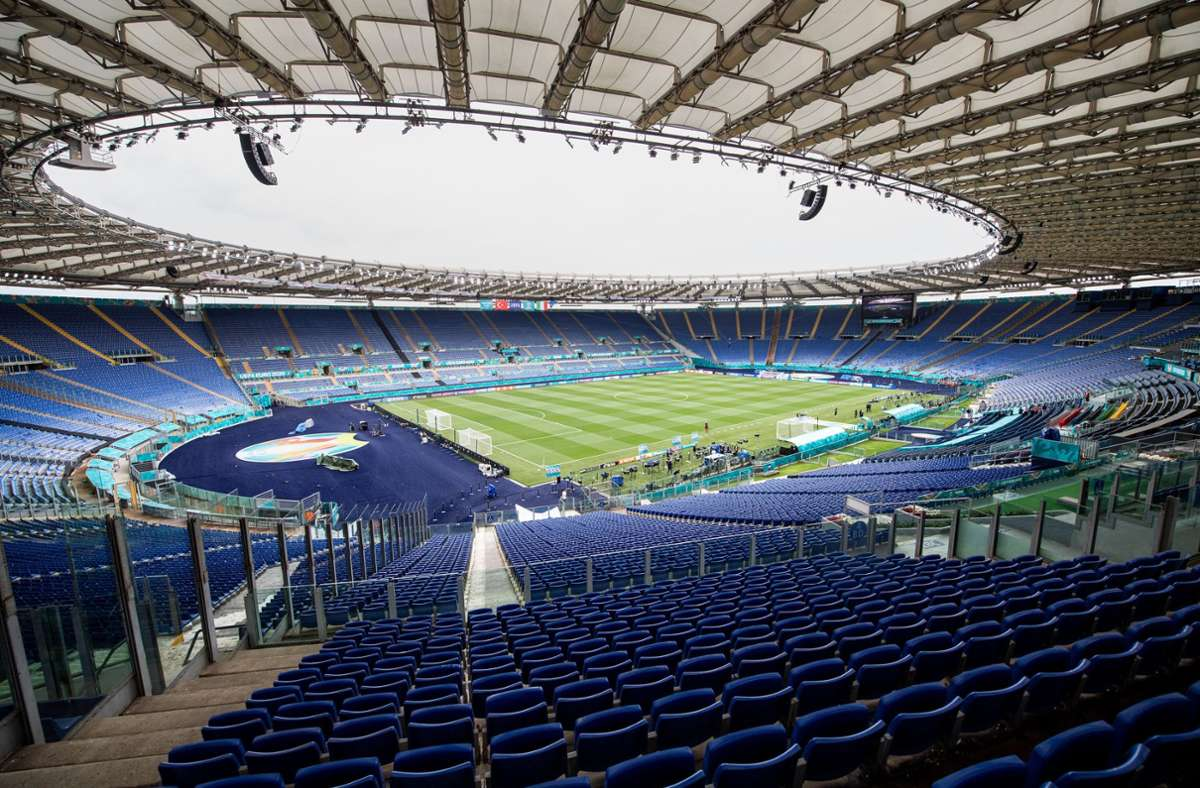 In Rom fand am Mittwoch das EM-Spiel Italien gegen Schweiz statt. Foto: dpa/Matthias Balk