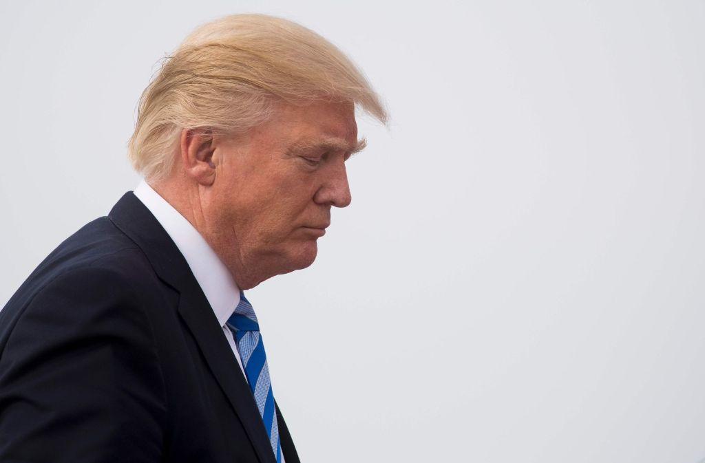 Donald Trump untersagt Veröffentlichung der Besucherlisten im Weißen Haus. Foto: AFP