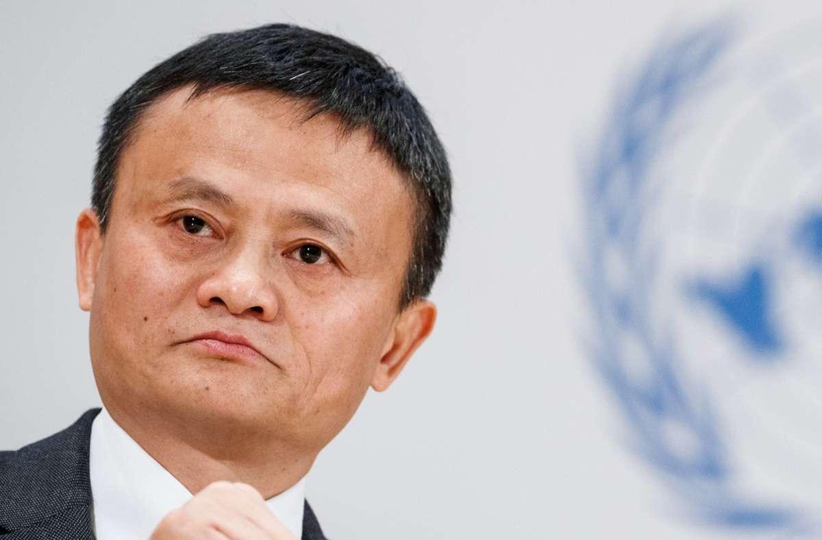 Alibaba-Gründer Jack Ma ist unter Druck. Foto: dpa/Valentin Flauraud