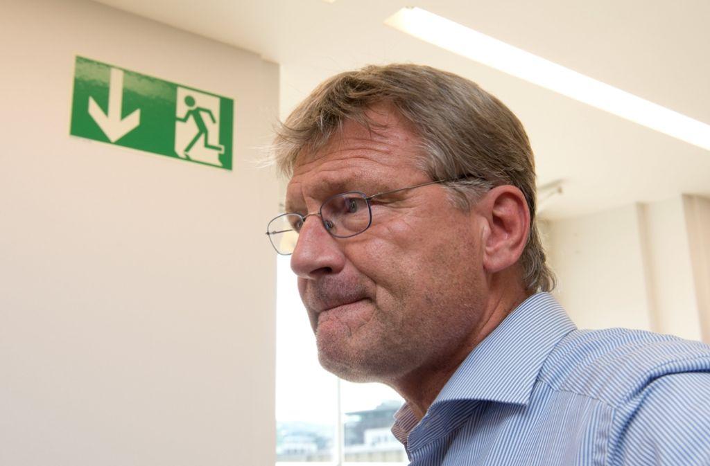 AfD-Chef Jörg Meuthen und weitere 12 Abgeordnete verlassen die Landtags-Fraktion. Foto: dpa