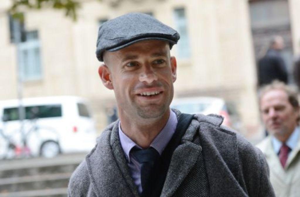 Der ehemalige Radprofi Stefan Schumacher vor dem Landgericht in Stuttgart. Foto: dpa