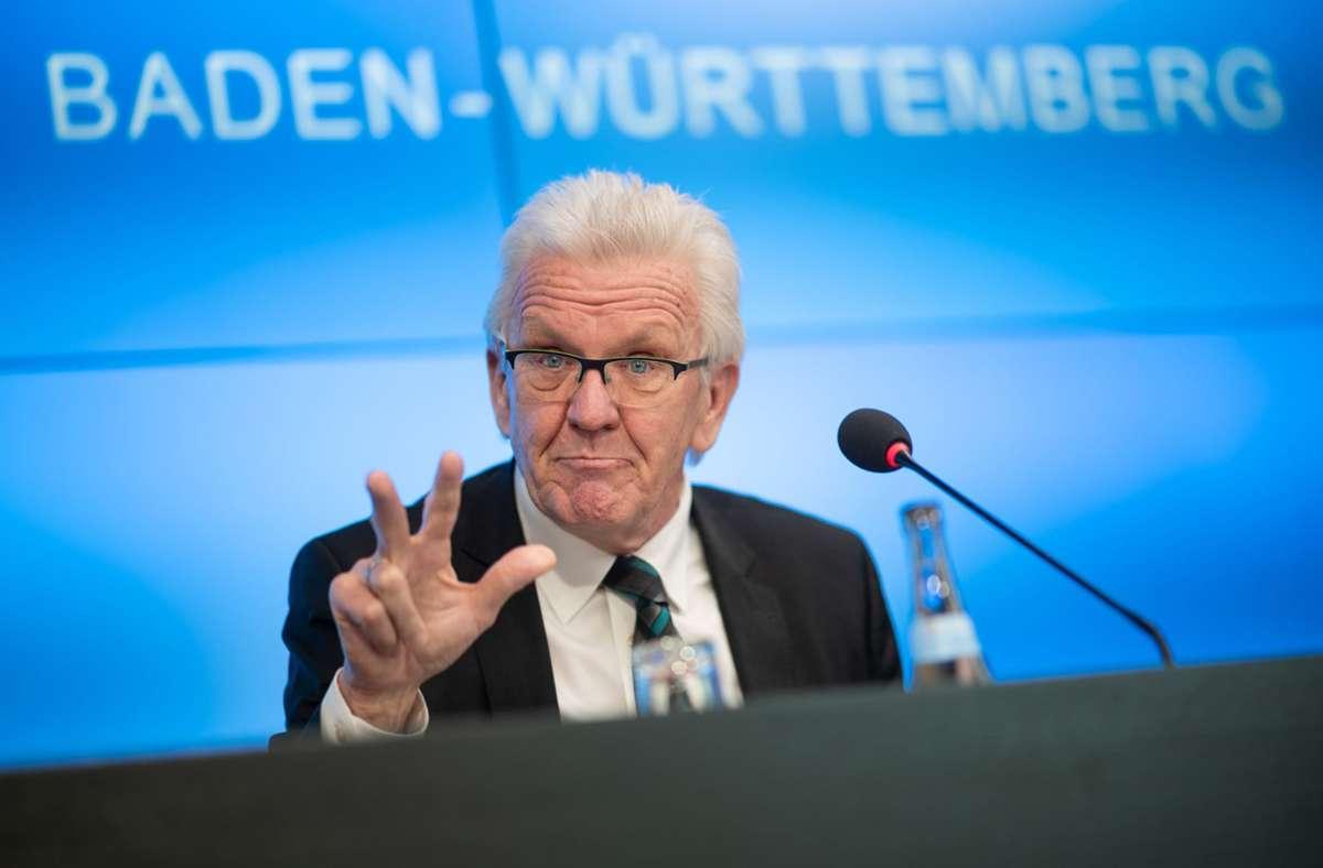 Laut einer Umfrage konnte Ministerpräsident Kretschmann seinen Vorsprung noch mal vergrößern. Foto: dpa/Sebastian Gollnow