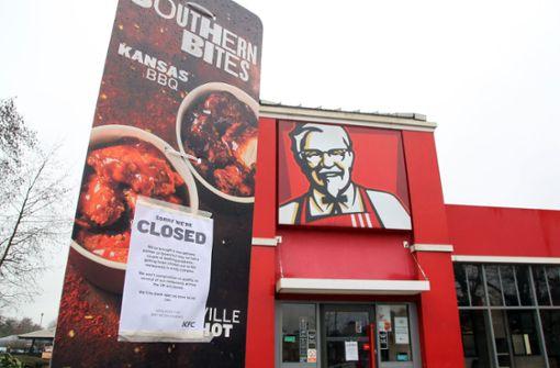 Britischen KFC-Filialen gehen die Hühnchen aus