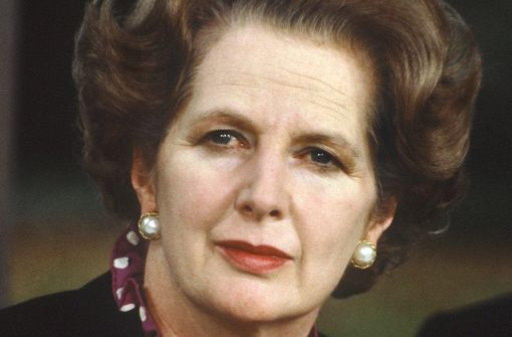 Die ganze Welt kannte sie als Eiserne Lady. Den Namen erhielt Margaret Thatcher wegen ihrer oft unerbittlichen politischen Haltung - und nicht wegen der stets korrekt sitzenden Frisur. Nun ist die frühere britische Premierministerin im Alter von 87 Jahren gestorben. Foto: dpa