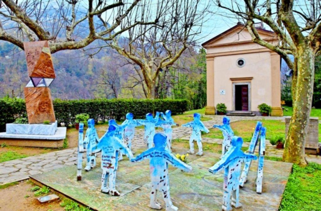 Mit dieser Gedenkstätte erinnert der toskanische Ort Sant'Anna di Stazzema an die Schrecken des 12. August 1944. Foto: Paolo Lazzeroni