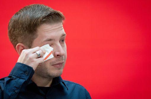 Juso-Chef verabschiedet sich unter Tränen aus seinem Amt