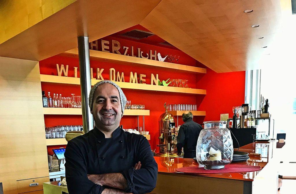 Kamiran Mahmud   im Restaurant Tempus Foto: Martin Haar