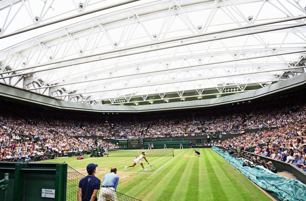 Tennis in Wimbledon – für dieses Jahr wohl nur eine schöne Vorstellung. Foto: imago//Juergen Hasenkopf
