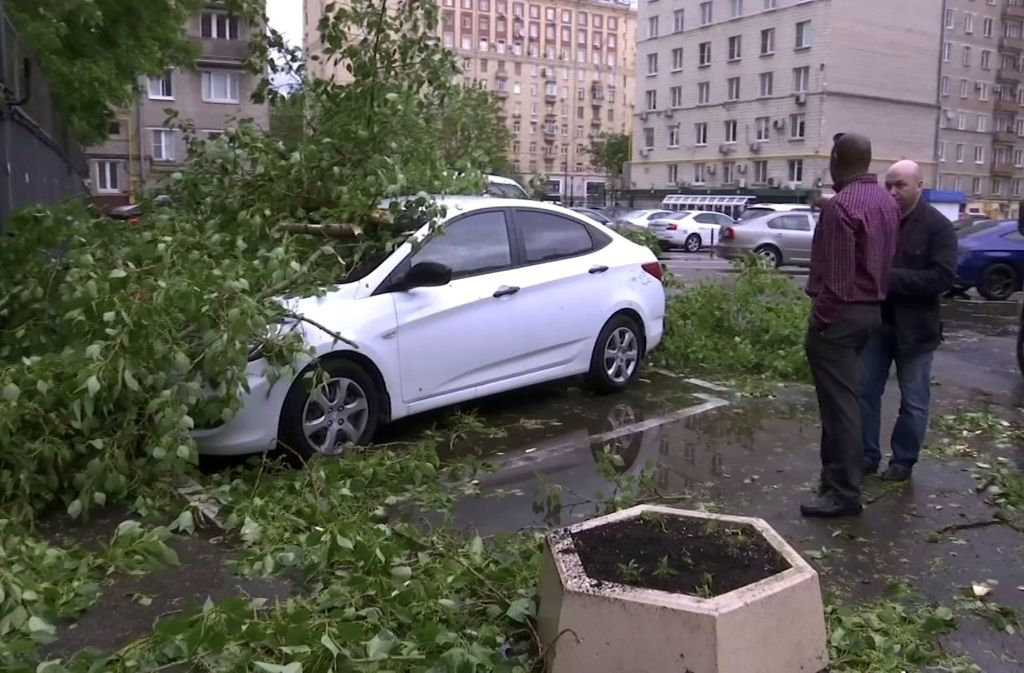 In Moskau ist es am Montag zu einem heftigen Unwetter gekommen. Foto: AP