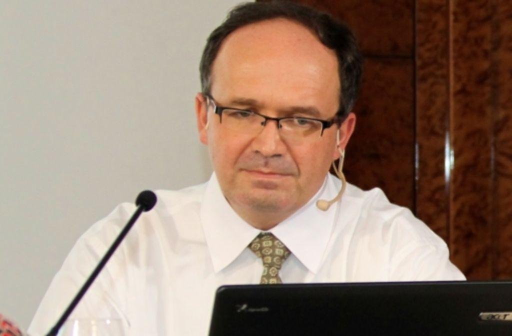 Christoph Engelhardt, Stuttgart-21-Kritiker und Initiator der Internetplattform wikireal.org, wirft der Bahn vor, sich nicht mit Kritik auseinanderzusetzen. Foto: Petra Weiberg