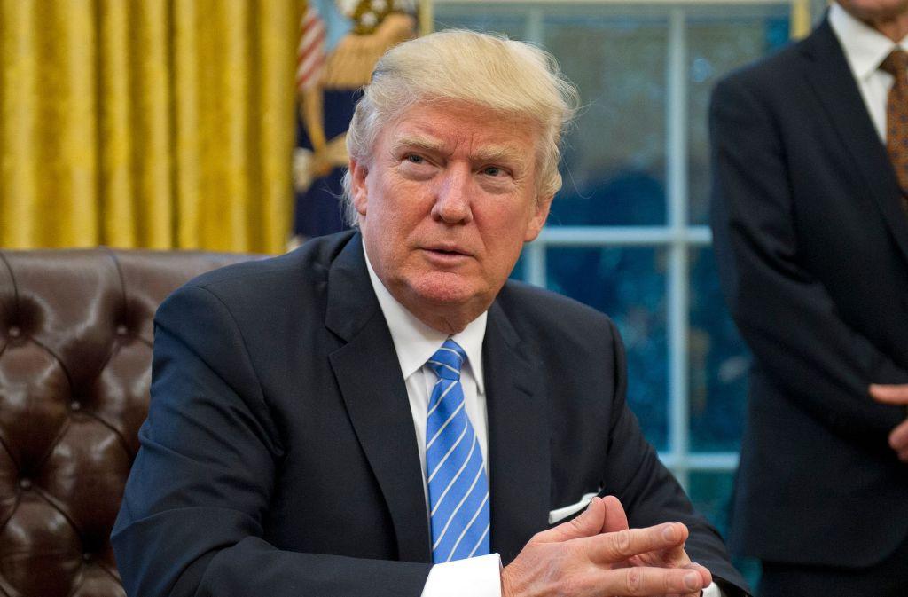 Donald Trump ist von sich und seiner Arbeit überzeugt. Foto: dpa