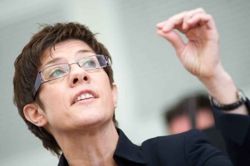 Die saarländische Ministerpräsidentin Annegret Kramp-Karrenbauer (CDU) Foto: dpa