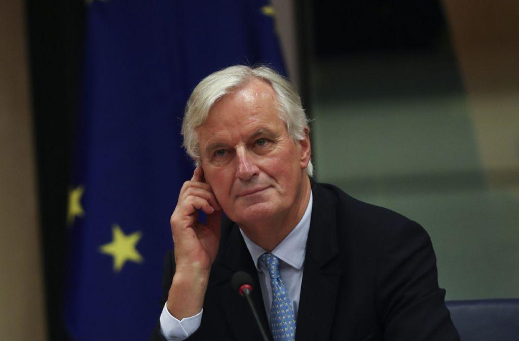 Unterhändler Michel Barnier spielt eine entscheidende Rolle. Foto: AP/Francisco Seco
