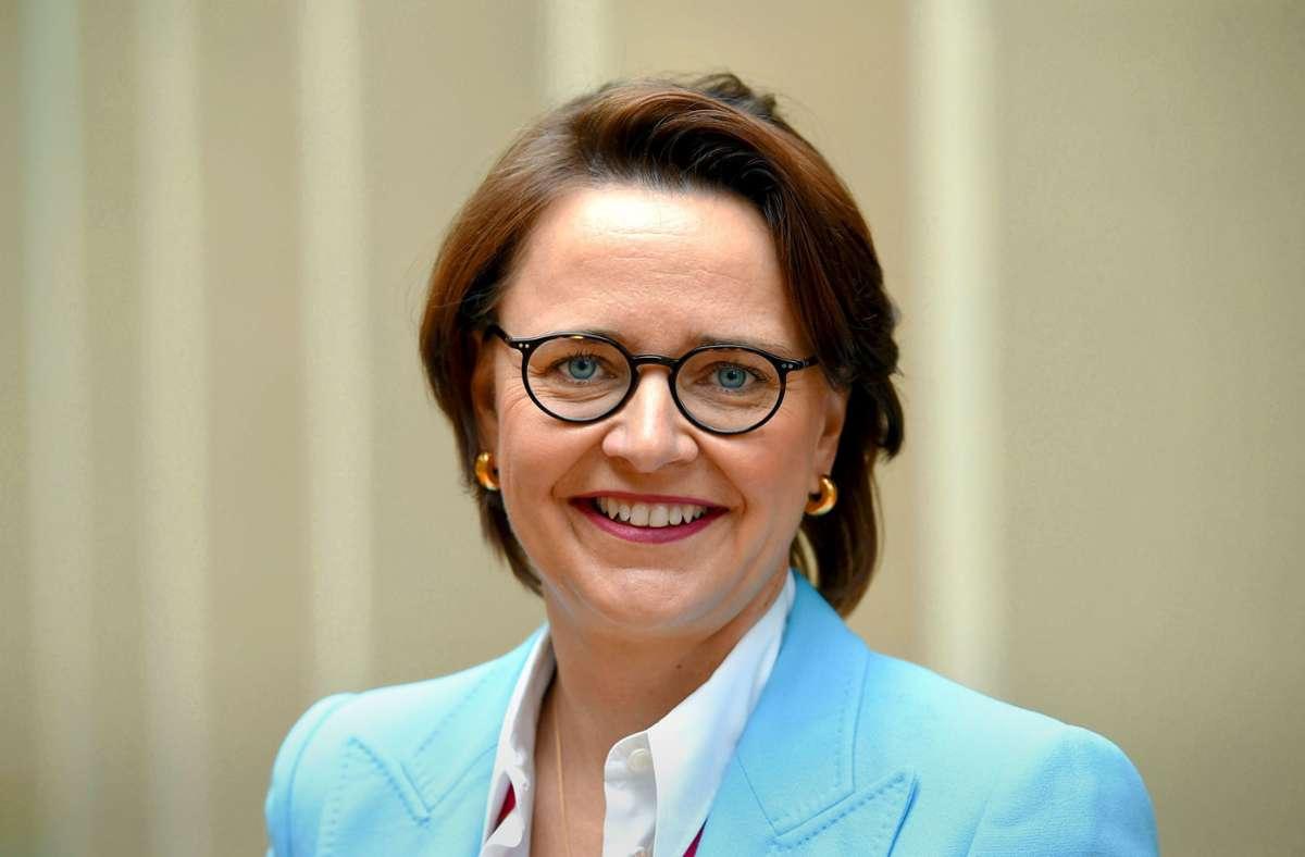 Annette Widmann-Mauz aus Tübingen ist die Bundesvorsitzende der Frauen-Union. Foto: dpa/Uwe Zucchi