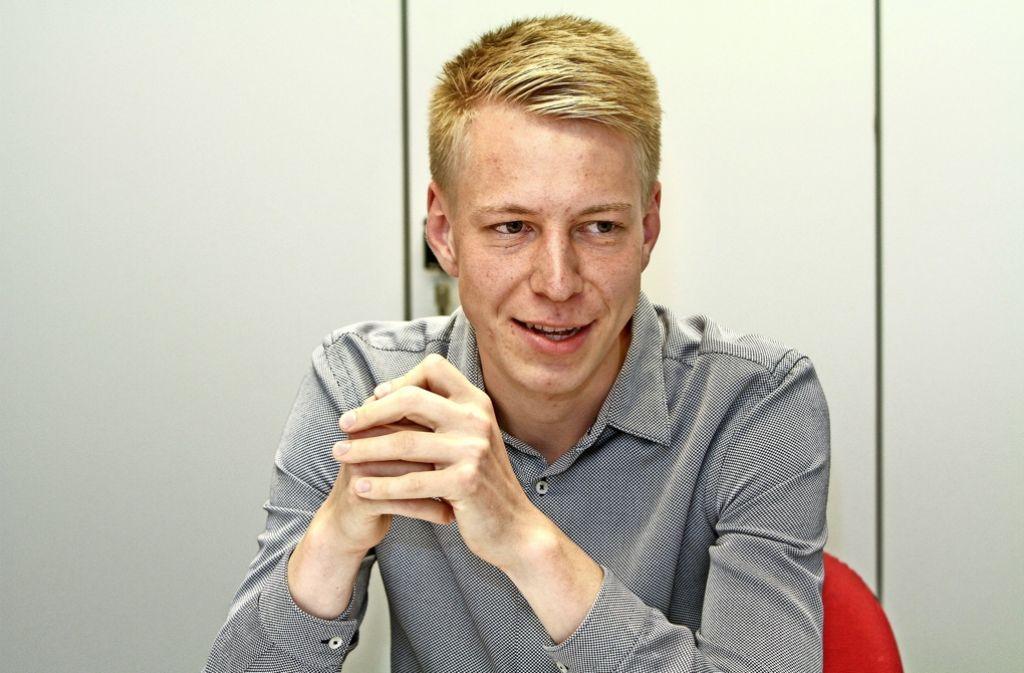 Yannick Schulze ist mit 17 Jahren in die SPD eingetreten. Jetzt führt er den SPD-Ortsverein und ist Chef der gut 200 Jusos im Kreis Ludwigsburg. Foto: factum/Bach