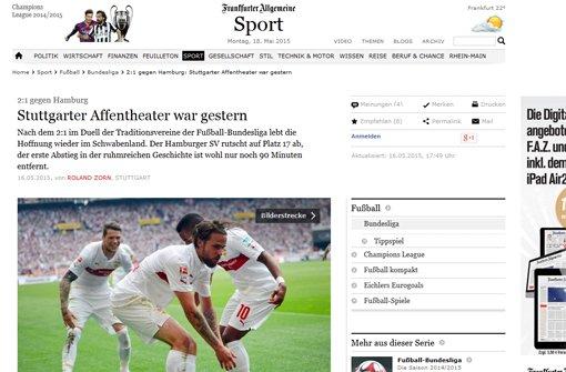 Die Pressestimmen zum VfB-Sieg