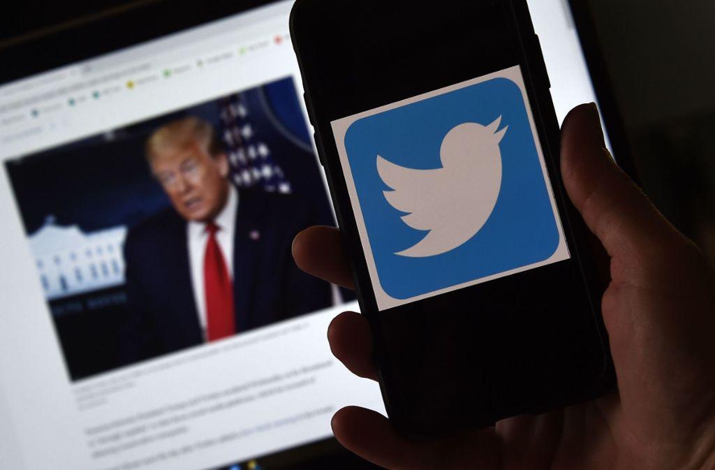 Offene Konfrontation: Donald Trump geht nicht nur auf Twitter los. Foto: AFP/OLIVIER DOULIERY