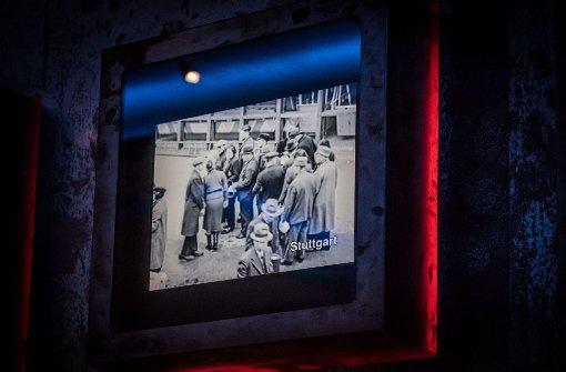 Ausschnitte aus einem Progragandafilm der Nazis vom Sammellager auf dem Killesberg. Ausschnitte davon sind in der Dauerausstellung  im Haus der Geschichte zu sehen. Foto: Lichtgut/Achim Zweygarth
