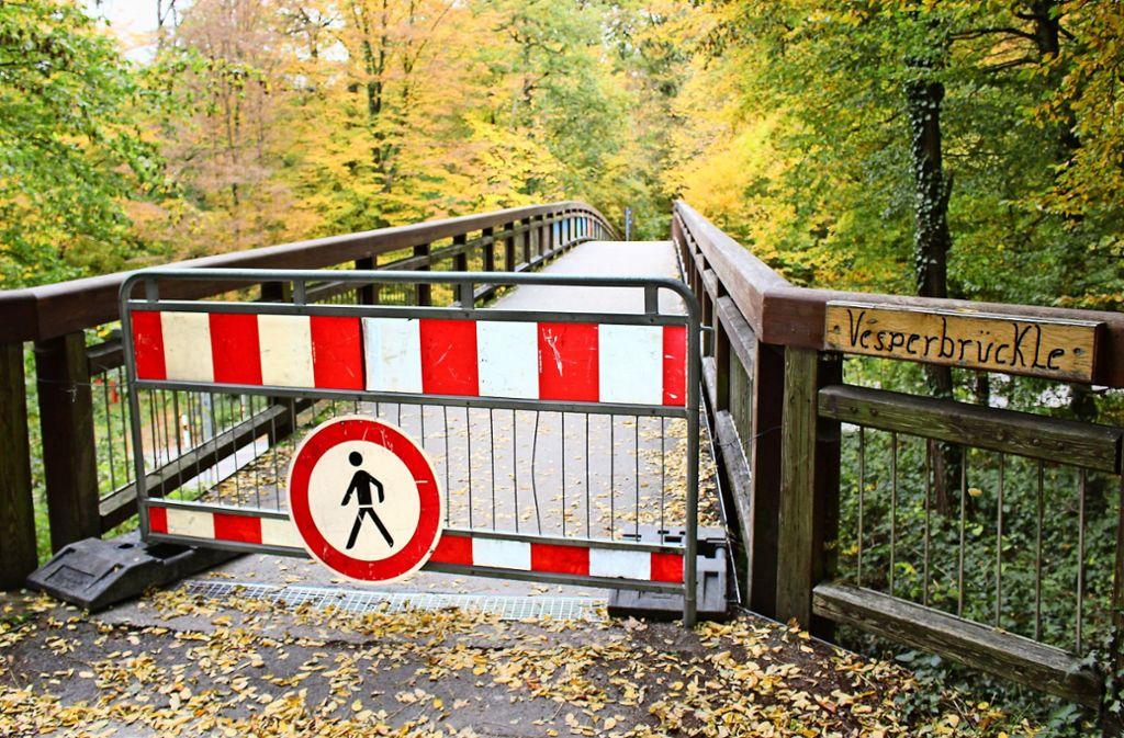 Große Verwirrung herrscht seit einiger Zeit wegen dieser Brücke. Foto: Caroline Holowiecki