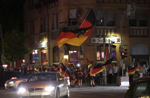 Fellbach feiert den Sieg gegen Schweden