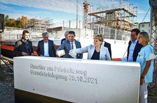 Ein Bauauftakt für  329 neue Wohnungen