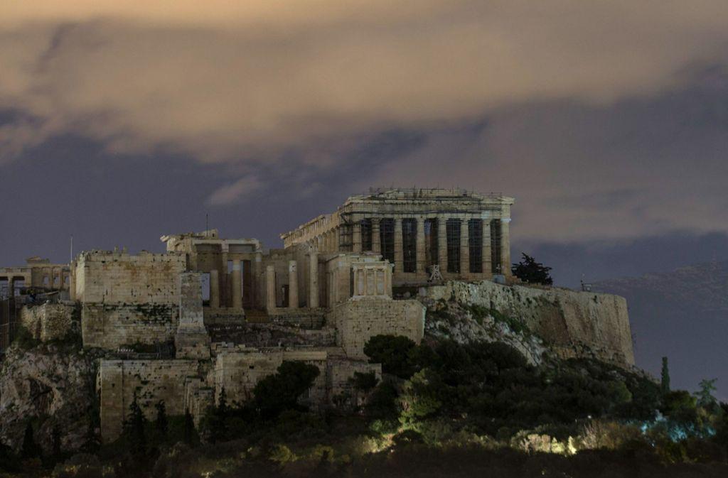Im Schatten der Akropolis wird gemeuchelt und gemordet. Foto: XinHua