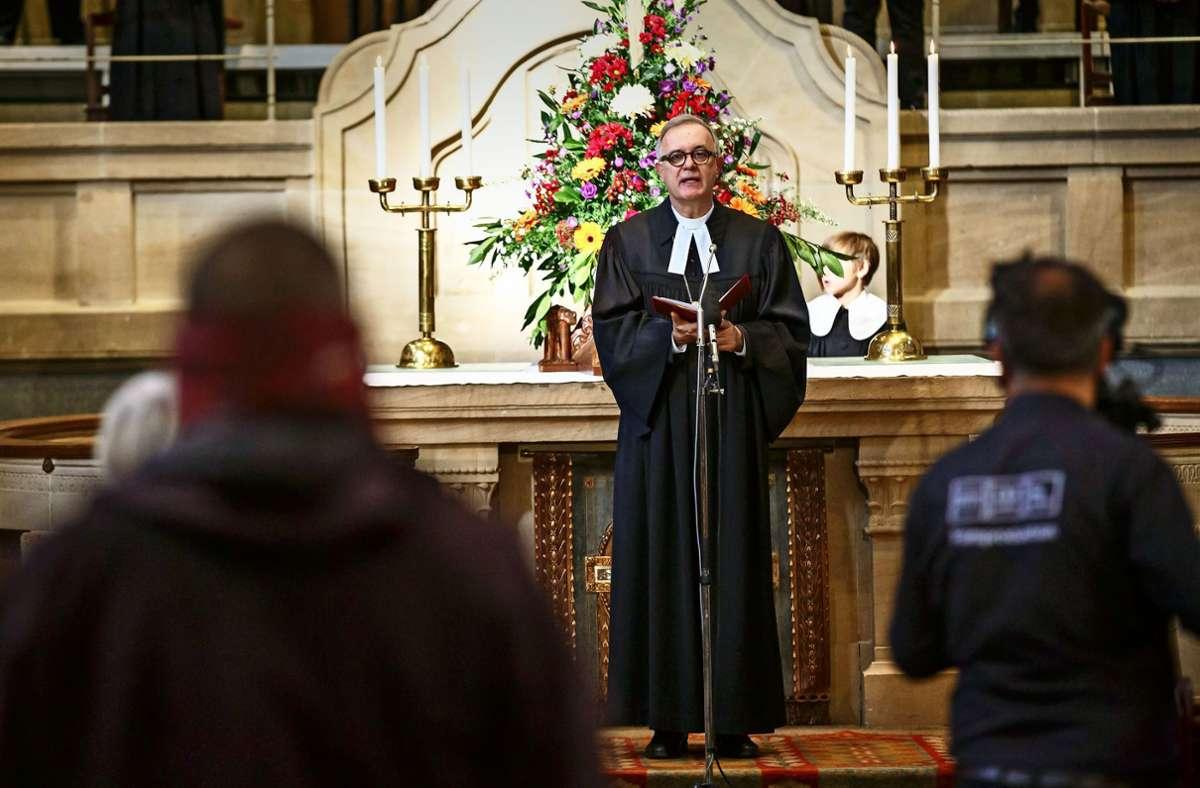 Bischof Frank Otfried July: Das Bekenntnis als Erbe und Auftrag Foto: Lichtgut/Julian Rettig