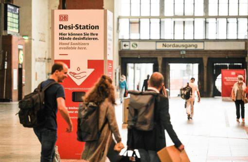 Hygienekonzept am Bahnhof  weiter ausgebaut