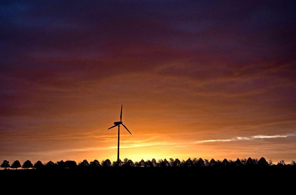 Ein Windrad inmitten von Wiesen und Bäumen: für manche die Zukunft der Energiegewinnung, für andere eine Zerstörung der Landschaft. Foto: dpa