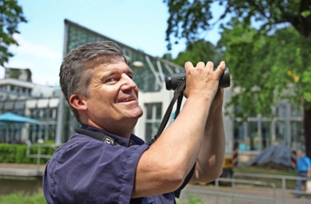 Michael Schmolz organisiert seit mehr als 20 Jahren die Schwalbenzählung. Foto: Ines Rudel