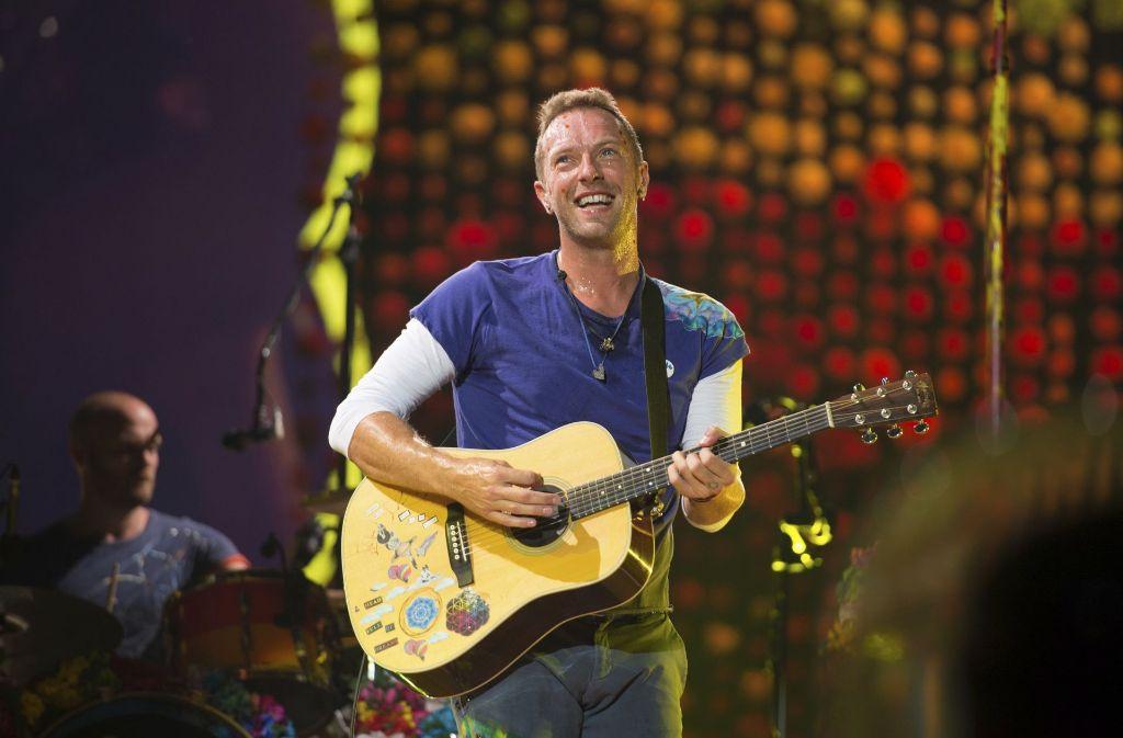 Stets gut gelaunt: der Coldplay-Sänger Chris Martin Foto: AP