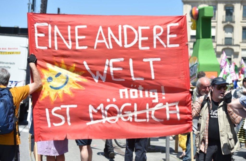 In München findet eine große Demo gegen den G7-Gipfel statt. Foto: dpa