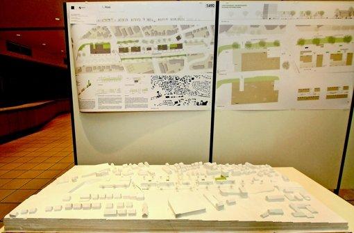 Der Entwurf des  Bahnhofareals Foto: factum/Bach