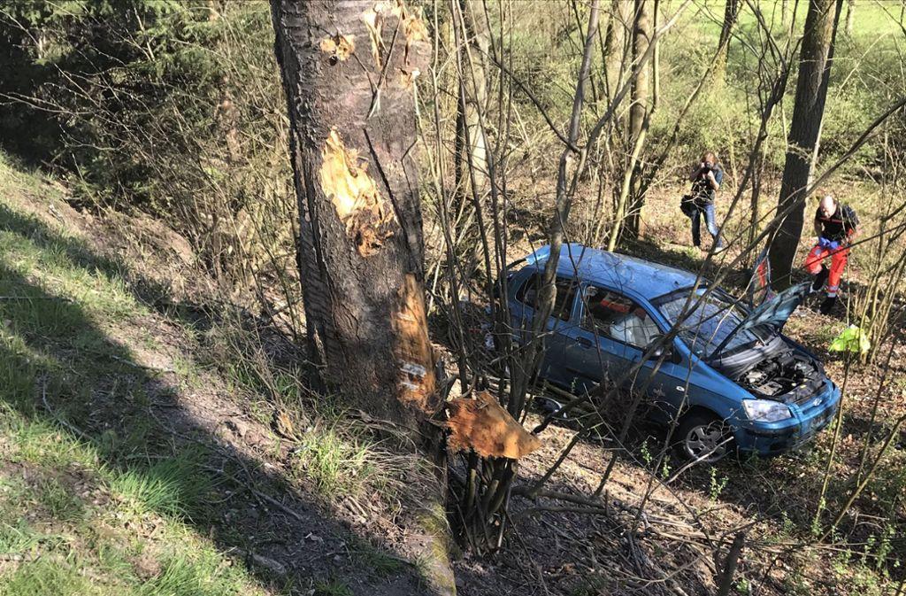 Der Fahrer verletzt sich bei dem Unfall leicht. Foto: SDMG// Hemmann