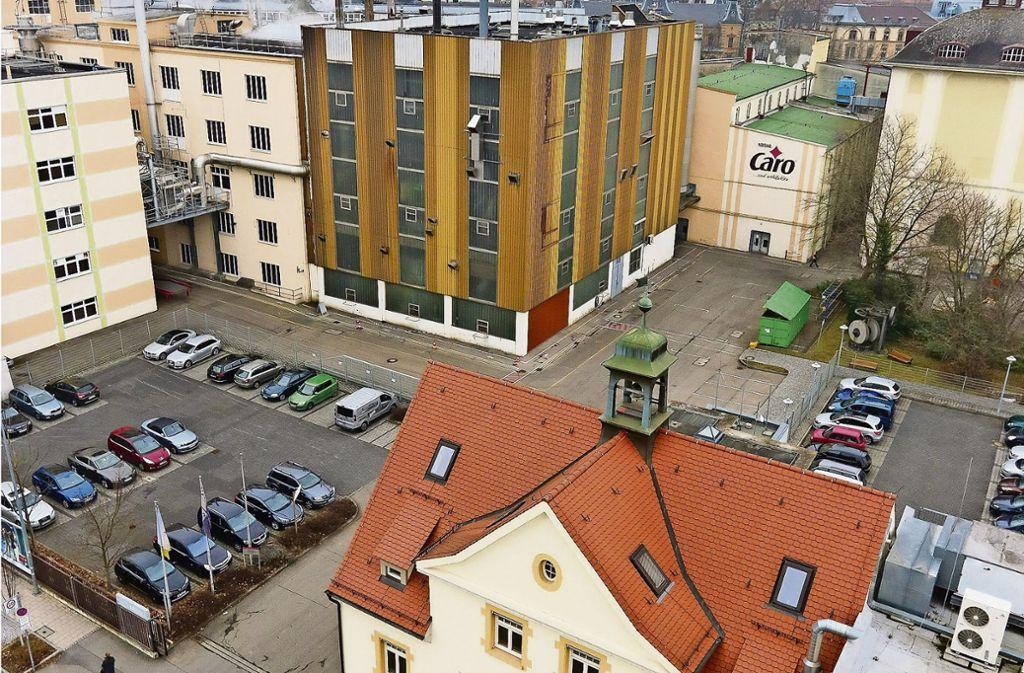 So groß wie fünf Fußballfelder ist das Nestlé-Gelände in Ludwigsburg. Am Dienstag wurden die Mitarbeiter informiert, dass das Werk schließt. Foto: factum/Granville/Mathes