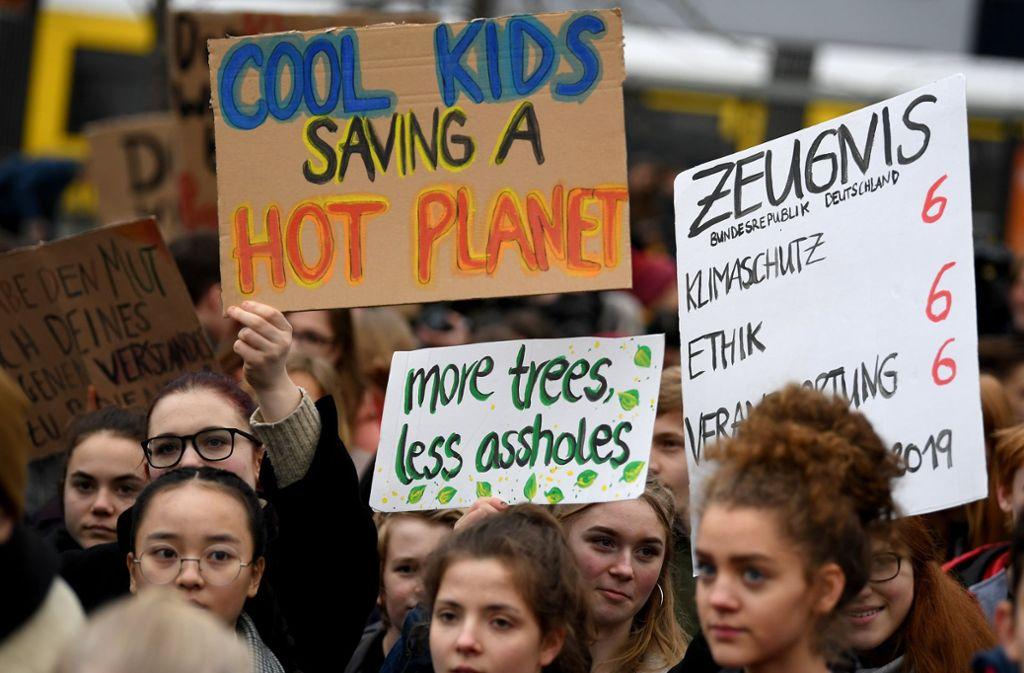 Seit Monaten demonstrieren Schüler immer wieder freitags während der Unterrichtszeit für eine engagiertere Klimaschutzpolitik. Foto: dpa