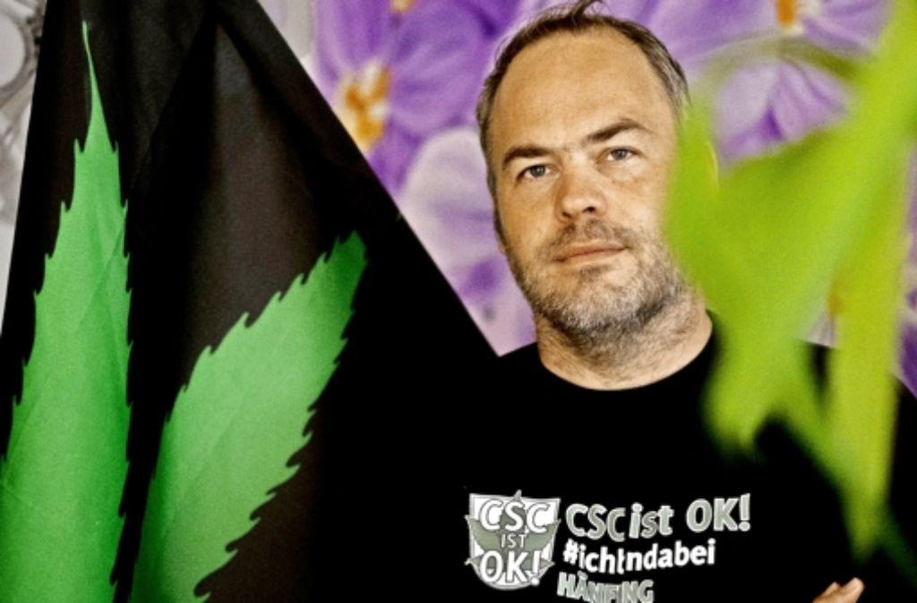 Timo Strohmenger setzt sich für die   Legalisierung von Cannabis ein. Foto: Lg/Max Kovalenko