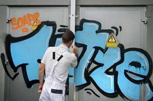 Stadt erhöht Druck auf die   Graffitiszene