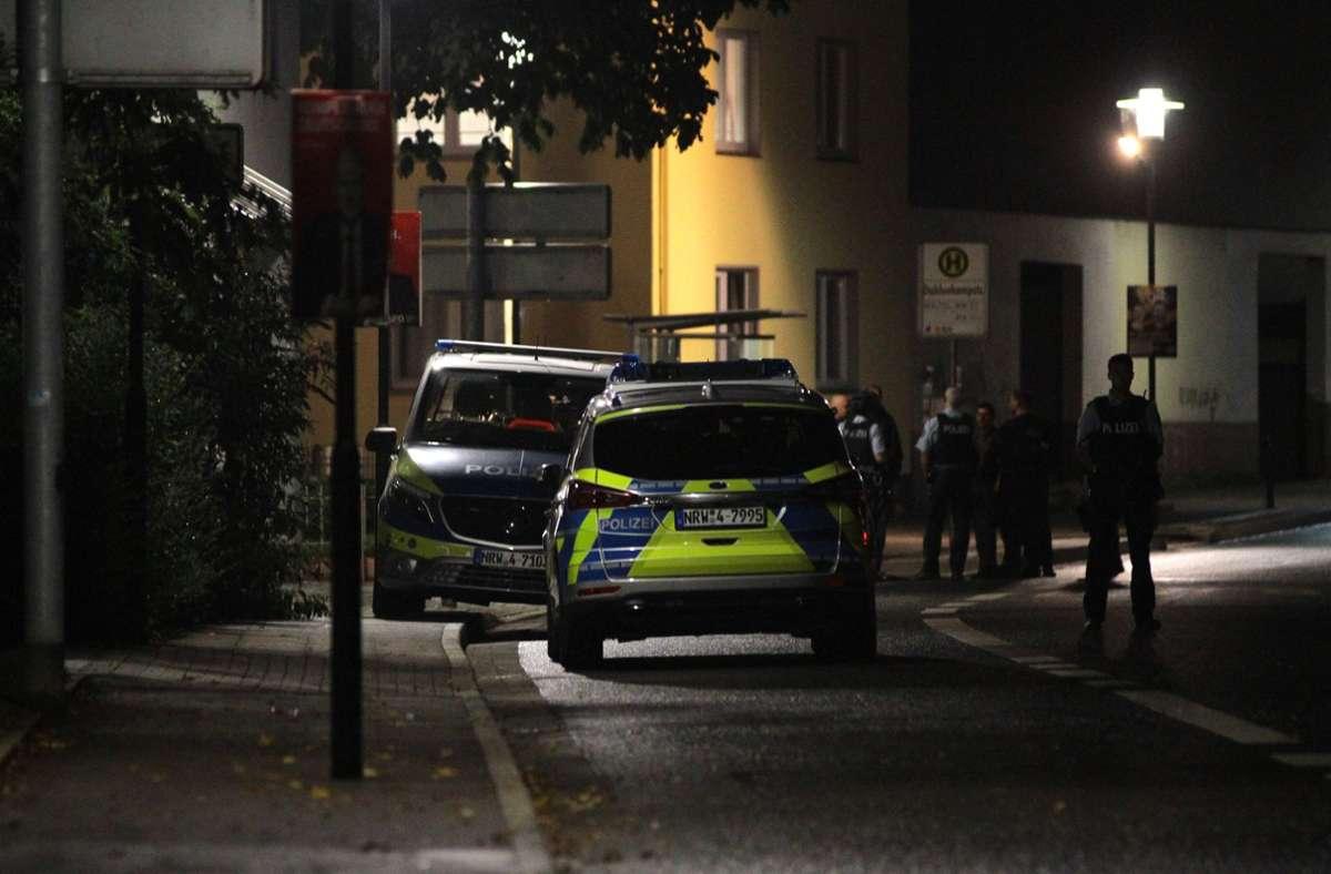 Polizeieinsatz an einer Synagoge in Hagen Foto: dpa