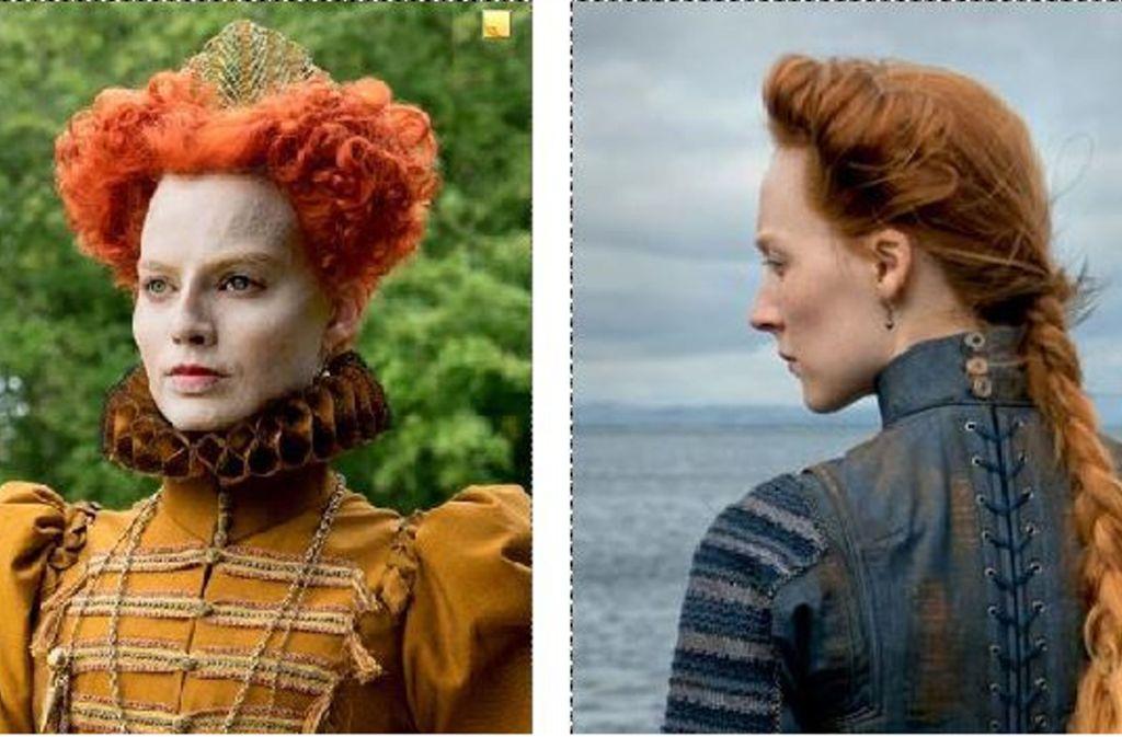Margot Robbie (li.) als Elisabeth I., Saoirse Ronan als Maria Stuart Foto: Verleih