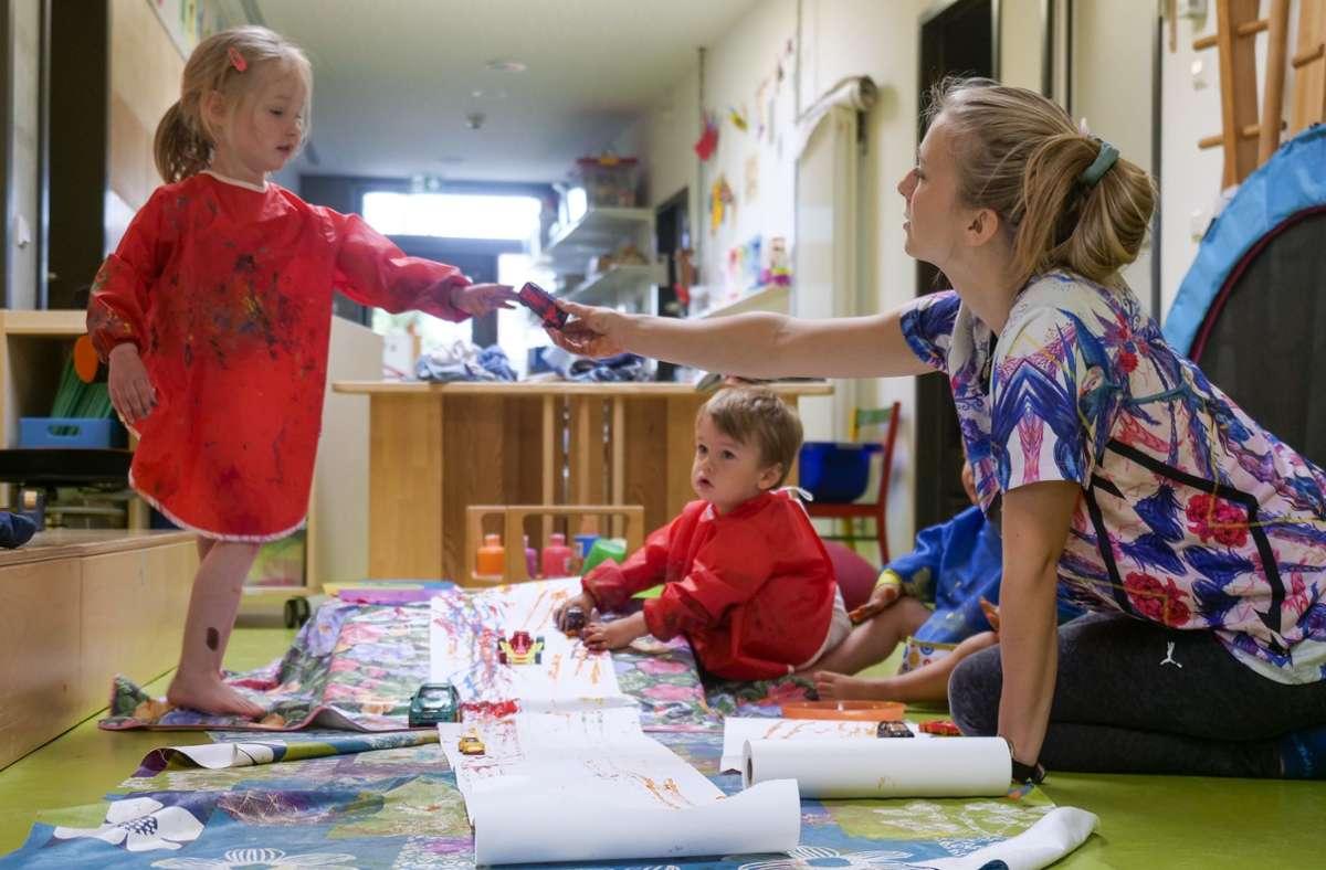 Im Sportnest können sich die Kleinen auch kreativ austoben. Foto: factum/Simon Granville