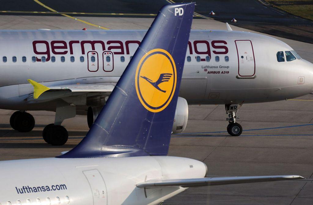 Passagiere von Germanwings müssen sich auf zahlreiche Flugausfälle einstellen. Foto: dpa/Oliver Berg