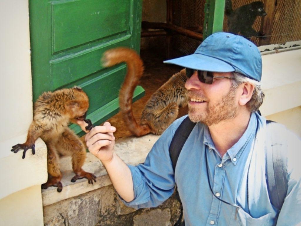 Der Biologe Axel Meyer von der Universität Konstanz auf Tour Foto: privat