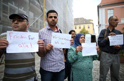 Spontante Kundgebung von Flüchtlingen