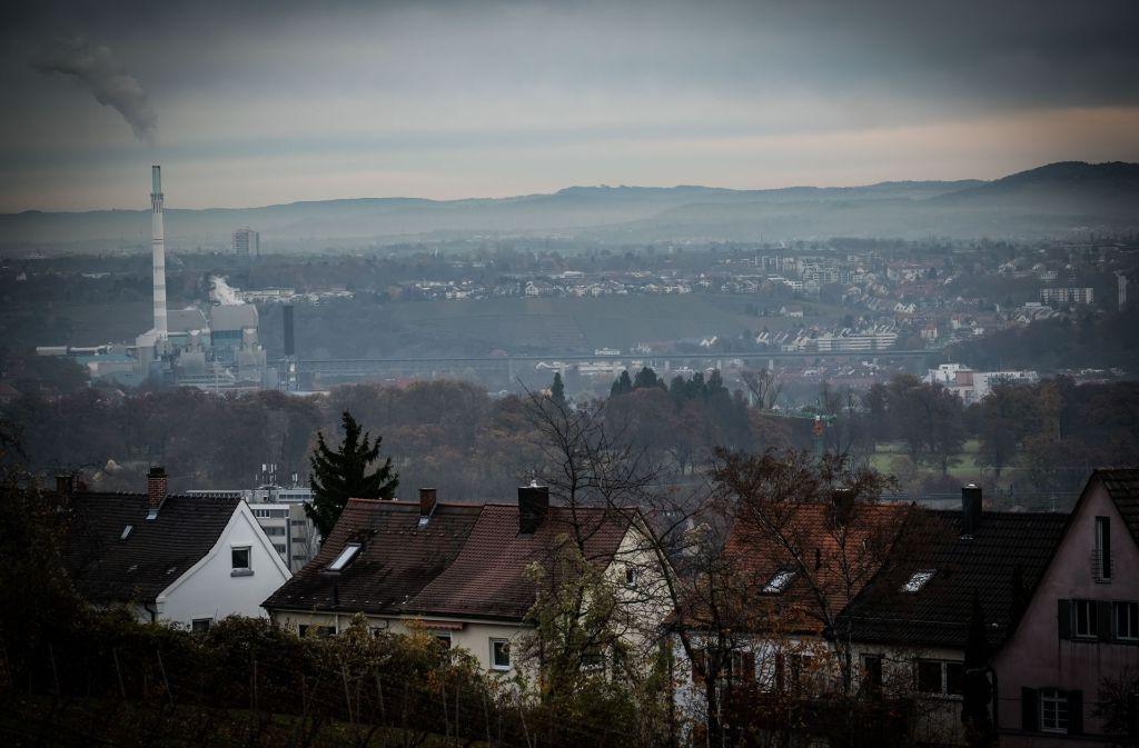 Smog über Stuttgart. Foto: Lichtgut/Achim Zweygarth