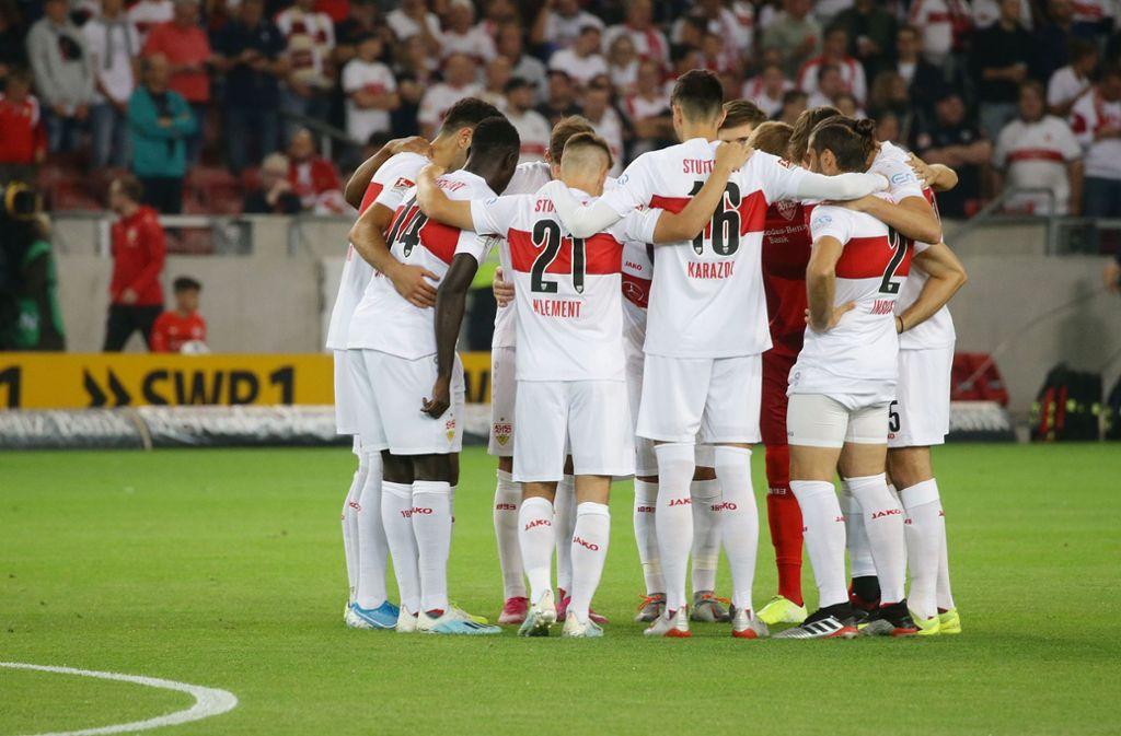 Der Kader des VfB Stuttgart umfasst momentan 29 Spieler. Foto: Baumann