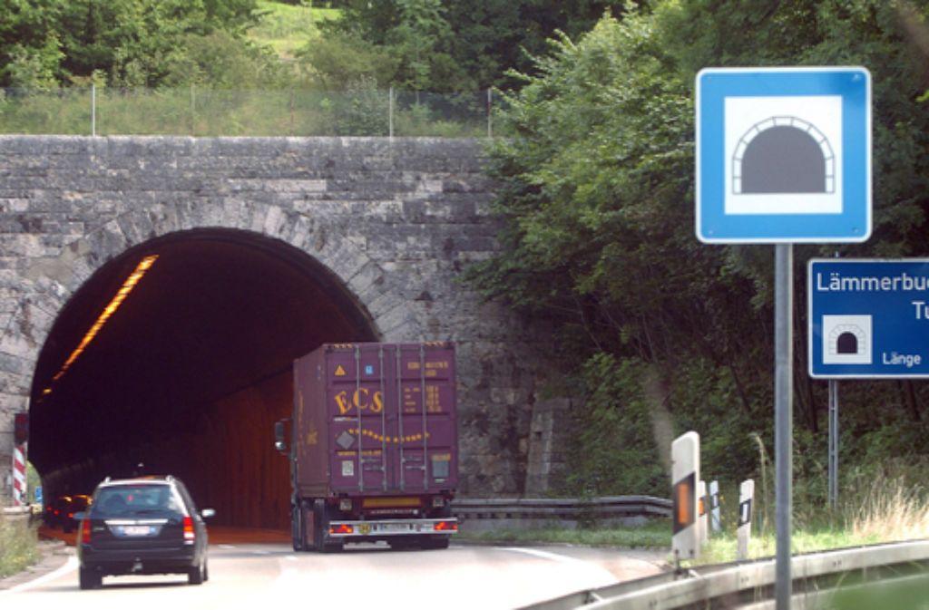 Der Lämmerbuckeltunnel auf der A 8 wird saniert. Foto: dpa