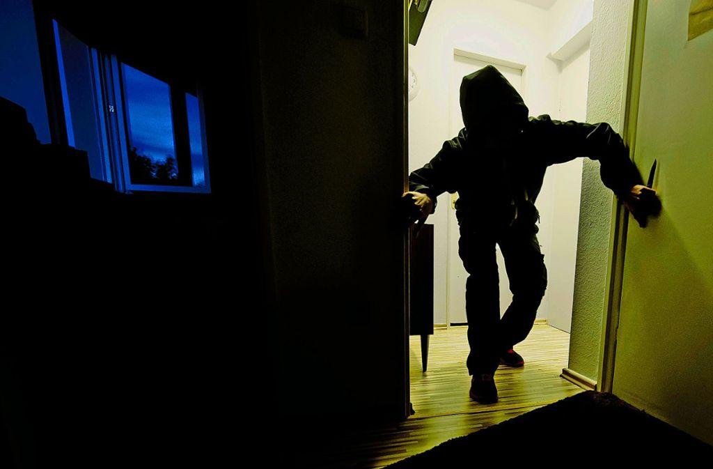 Durch die Terrassentüre waren die Einbrecher ins Haus gelangt. Foto: dpa
