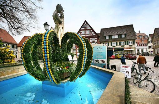 Osterbrunnen zum Stadtjubiläum